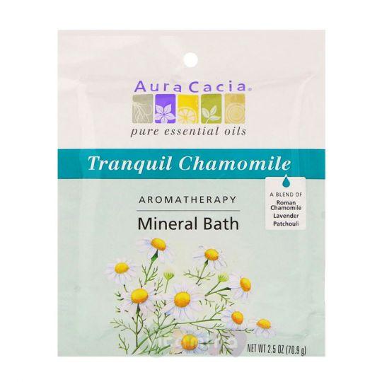 Aura Cacia Минеральное средство для ванны Успокаивающая Ромашка Tranquil Chamomile