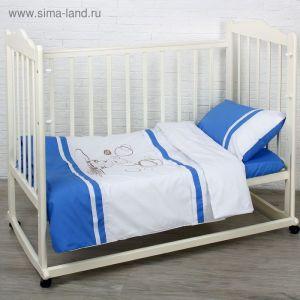 """Детское постельное бельё """"Шоколадный мишка"""", цвет голубой 2025697"""