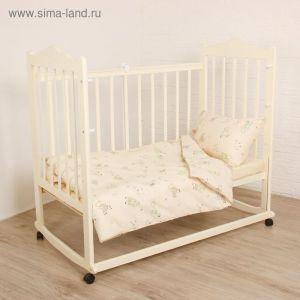 """Детское постельное бельё """"Я гуляю!"""", 120х60 см, 147х112 см, 42х62 см, цвет салатовый 1777611"""