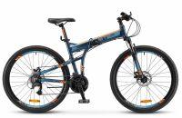 """Складной горный велосипед STELS Pilot-950 MD 26""""   19"""" Тёмно-синий 2018"""