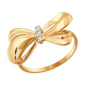 Кольцо «Бантик» из золота 016815 SOKOLOV
