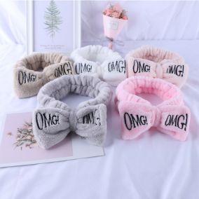 Бант-повязка для фиксации волос OMG розовая