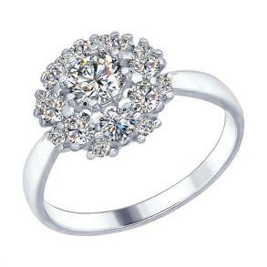Кольцо из серебра со Swarovski Zirconia 89010046 SOKOLOV
