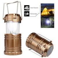 Складной кемпинговый фонарь 3-в-1, 14 см, цвет золотистый (2)