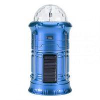 Складной кемпинговый фонарь с диско-шаром, 4-в-1, 19 см, цвет синий (3)