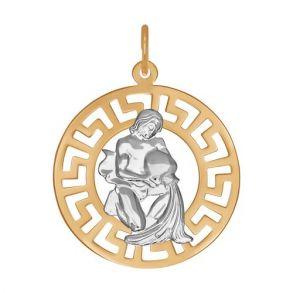 Золотая подвеска «Знак зодиака Водолей» 031245 SOKOLOV