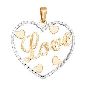 Подвеска из золота с алмазной гранью 033327 SOKOLOV
