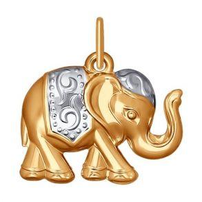 Подвеска «Слон» из золота 035193 SOKOLOV