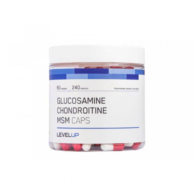 Glucosamine Chondroitine MSM от LevelUp , 240 кап.