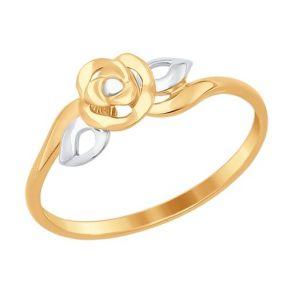 Золотое кольцо «Роза» 017269 SOKOLOV