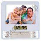 "Часы -будильник настол. Perfeo фоторамка + радио ""Foto"", белый, (PF-S6005) пит. 2*ААА"
