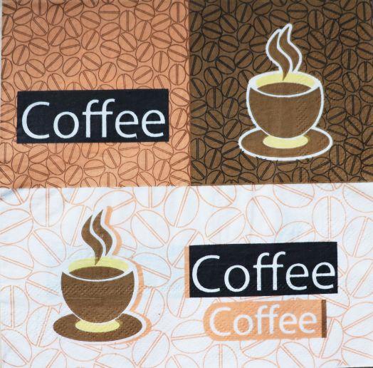 Салфетка бумажная 30*30 Coffee Style
