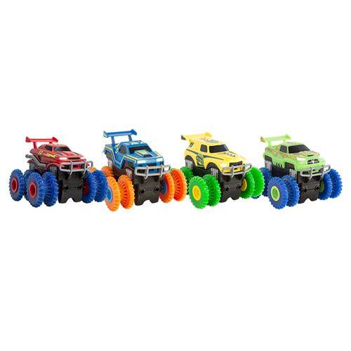 Машинка Монстр-трак Trix Trux - для канатного детского трека Trie Trul: цвет-желтый.