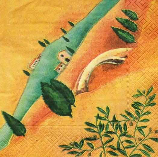 Салфетка бумажная 30*30 Тоскана