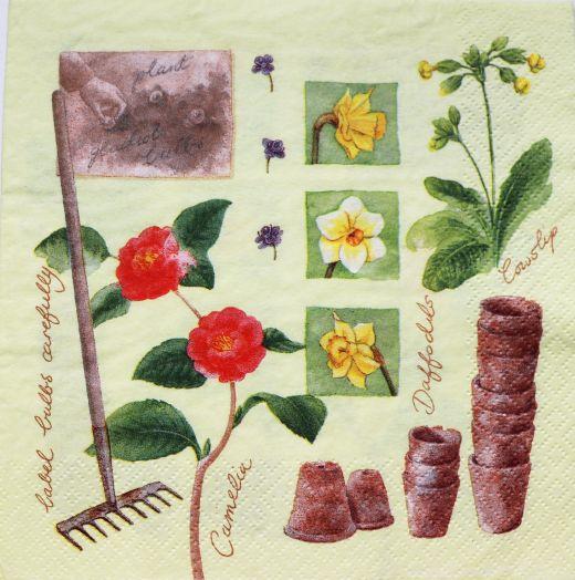 Салфетка бумажная 30*30 В саду