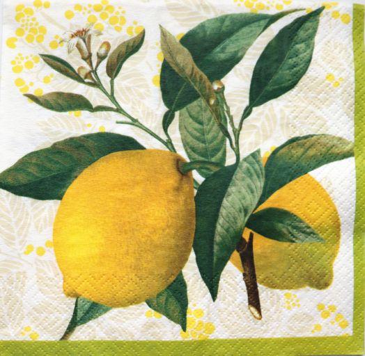 Салфетка бумажная 30*30 Лимоны