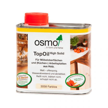 Масло с твердым воском для мебели и столешниц Osmo TopOil 0,5 л