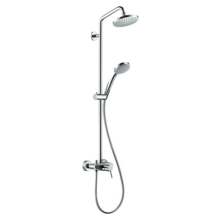 Душевая система с тропическим душем Hansgrohe Croma Showerpipe 160 1jet 27154000 ФОТО