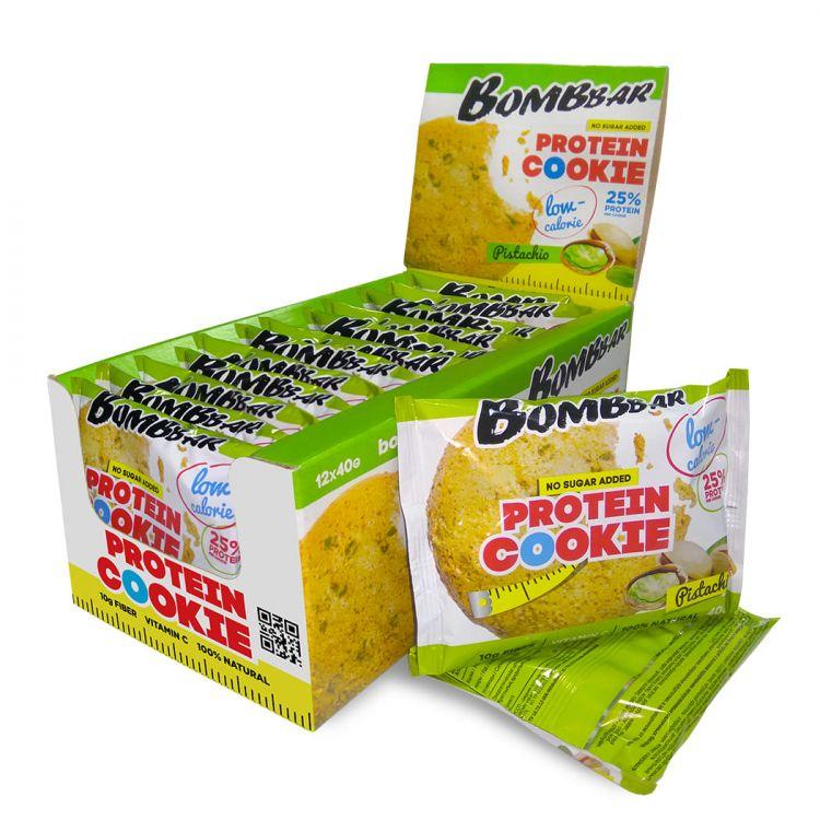 Низкокалорийное протеиновое печенье от Bombbar ФИСТАШКА 40 гр
