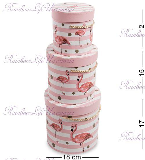 """Коробки подарочные 3 шт """"Фламинго"""""""