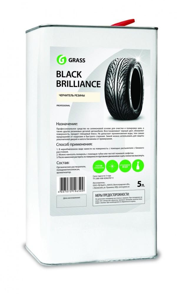 Полироль (чернитель) для шин «Black Brilliance» GRASS на силиконе 5л
