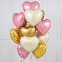 """Воздушные шары из фольги сердца 18"""" с гелием"""