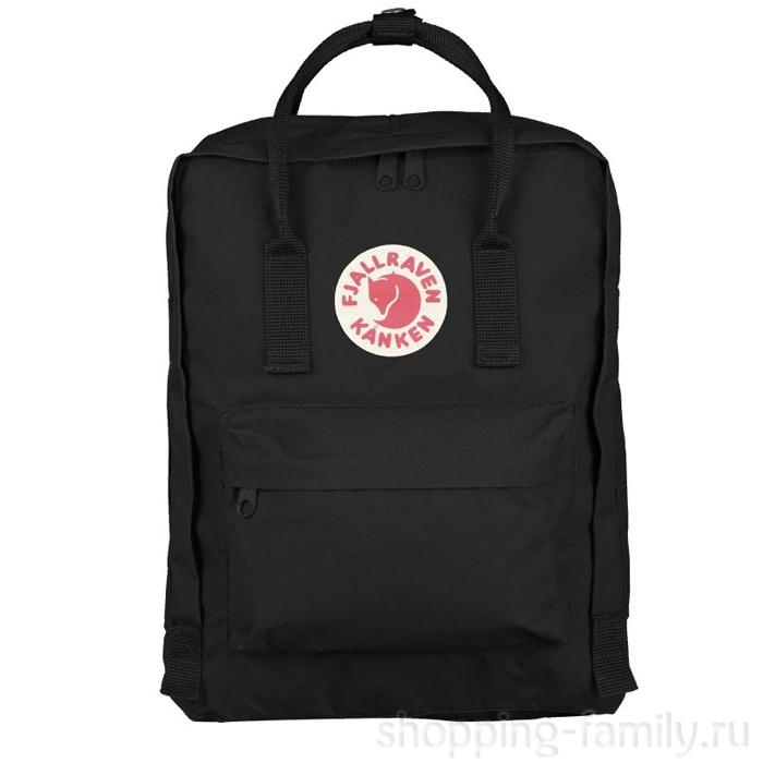 Городской сумка-рюкзак Fjallraven Kanken Classic, Цвет Чёрный