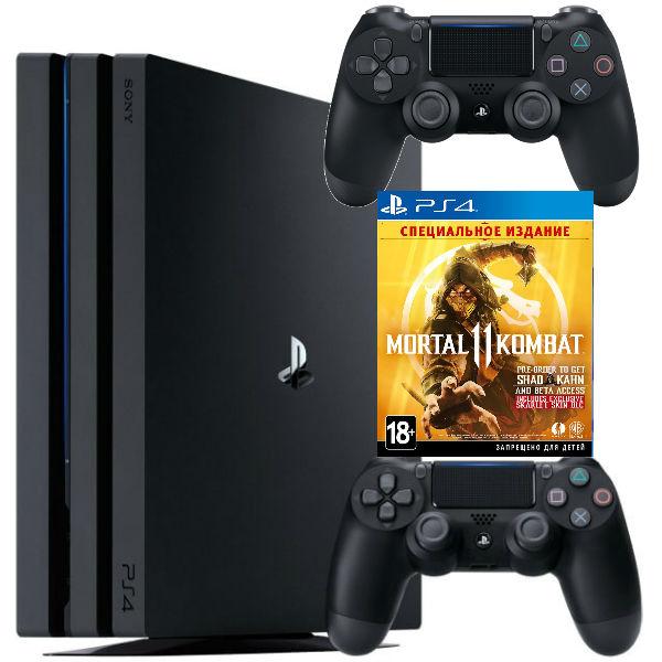 Игровая приставка Sony Playstation 4 Pro 1TB + Mortal Kombat 11 + Геймпад