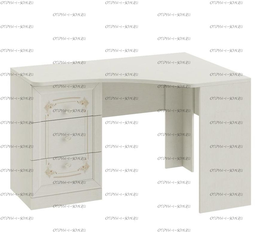 Стол письменный угловой с ящиками Лючия ТД-235.15.03 (121х89х76)