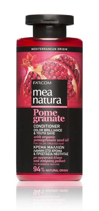Mea Natura Pomegranate, Кондиционер для волос Сияние Цвета и Сохранение Молодости, 300 мл.