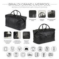 Дорожно-спортивный баул BRIALDI Grand Liverpool (Гранд Ливерпуль) relief black