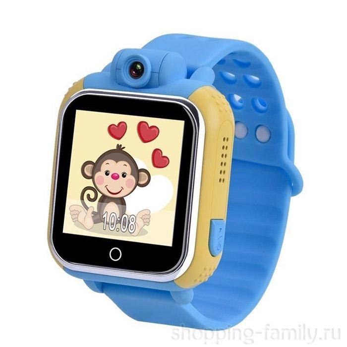 Умные детские GPS часы Smart Baby Watch Q75 GW1000 , Цвет Жёлто-голубой