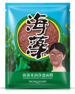 Маска для лица из семян водорослей (100% ламинария) BIOAQUA SEAWEED MASK .(4988)