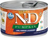 Farmina N&D  консервы для собак мелких пород с тыквой, ягненок и черника 140г