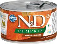 Farmina N&D консервы для собак мелких пород с тыквой, оленина 140г