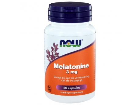 Melatonin 3 mg от NOW, 60 капс.