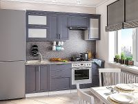 Кухня Сканди-02 Graphite Softwood