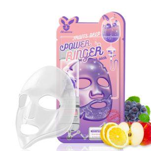 POWER RINGER_ FRUITS DEEP POWER RINGER MASK PACK Маска для лица тканевая  23мл