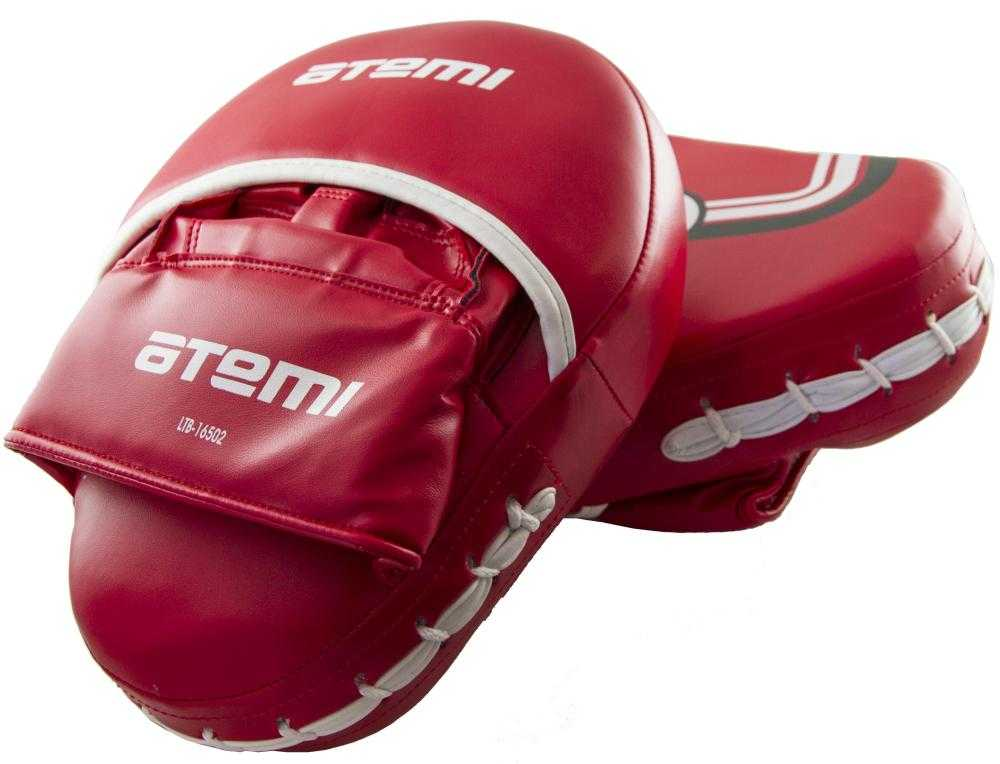 Лапы тренировочные вогнутые ATEMI красные LTB-16502