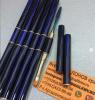 Кисть для полигеля со съёмной ручкой, прямая + лопатка, Синий перламутр