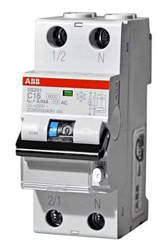 ABB Дифференциальный автоматический выключатель DS 201 C 16 AS 30