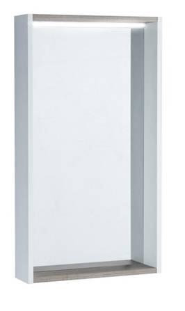 Зеркальный шкаф Акватон Бэлла, 1A221702BBAZ0, 46 х 82 см, белый/джара