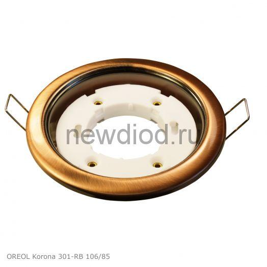 Точечный Светильник OREOL Korona 301-RB 106/85mm под лампу GX53 H4 Бронза