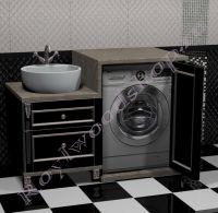 Тумба под стиральную машину с левой раковиной