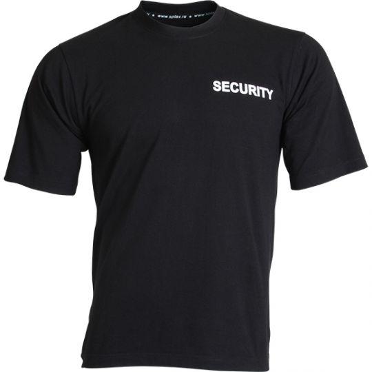 Футболка с надписью SECURITY