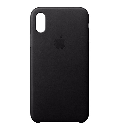APPLE Leather Case для iPhone X, XS Черный