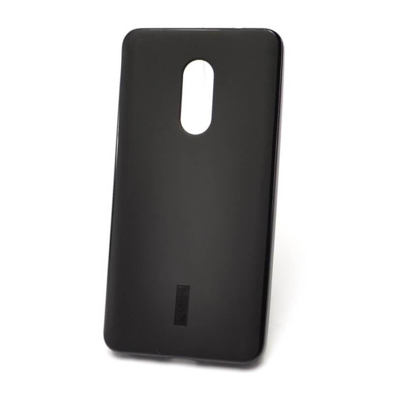 Силиконовый чехол для Xiaomi Redmi Note 4X, черный матовый