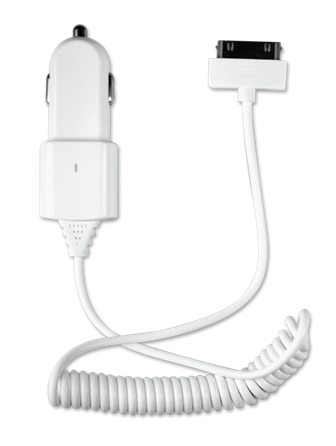 Автомобильное зарядное устройство 1A c 30-pin кабелем