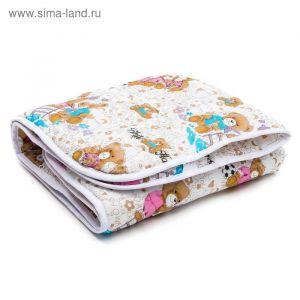 Одеяло АДЕЛЬ Стандарт файбер Степ  105*140 , пэ100%   3409677