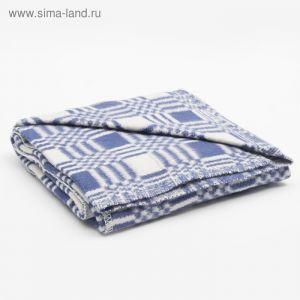 Одеяло байковое размер 90х140 см, цвет микс для дев., хл80%, ПАН 20%, 420гр/м   4296466
